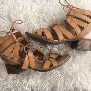 Rue 21 lace up heel sandals